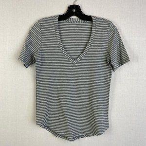 LULULEMON Short-sleeve Striped Top
